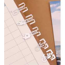Boîte de 20 petits Marque-Pages en Métal