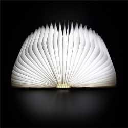 Lampe Nomade Bois sous forme de livre