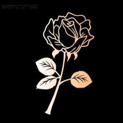 Marque-Page Motif Rose