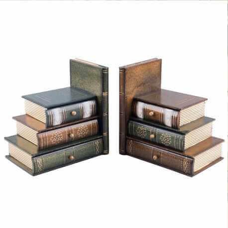 Serre-Livre en Bois Vintage & Original
