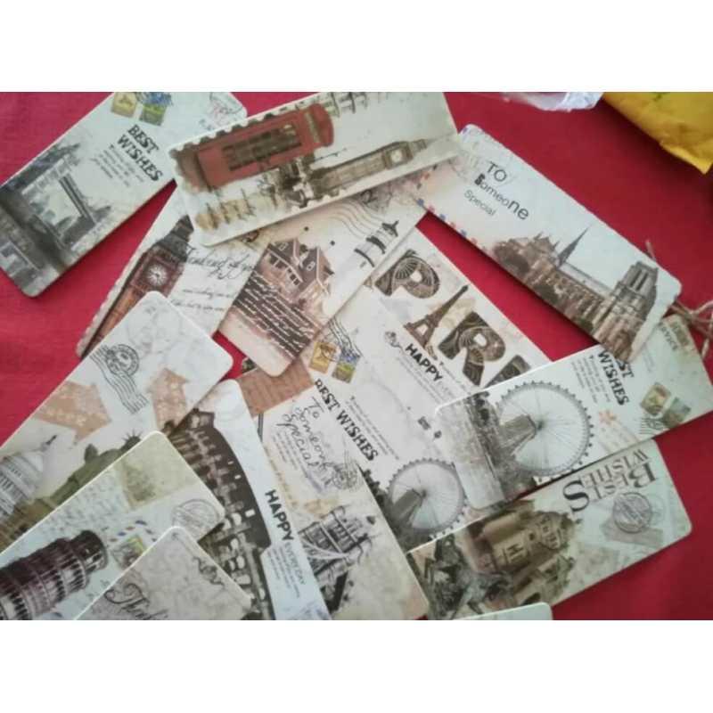 Acheter Marque-Page Inspiration Carte Postale | Signet Vintage, Vieilles Cartes