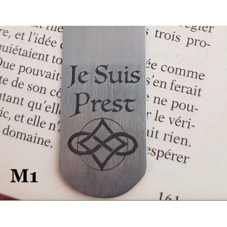 Marque-page Metal JE SUIS PREST