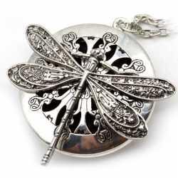 Collier Libellule pendentif diffuseur de parfum