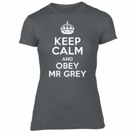 T-Shirt Femme Citation « Keep Calm And Obey Mr Grey »