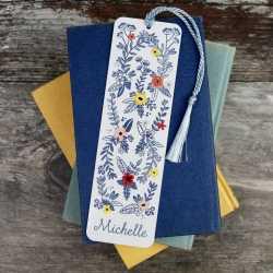 Marque-page Personnalisé décor floral