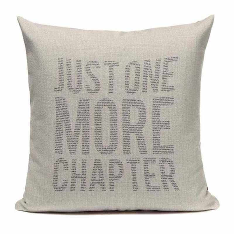 acheter coussin d coratif inscription livres housse de coussin 45x45 pas cher canap lit. Black Bedroom Furniture Sets. Home Design Ideas