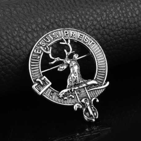 Broche Clan Fraser «  Je Suis Prest »