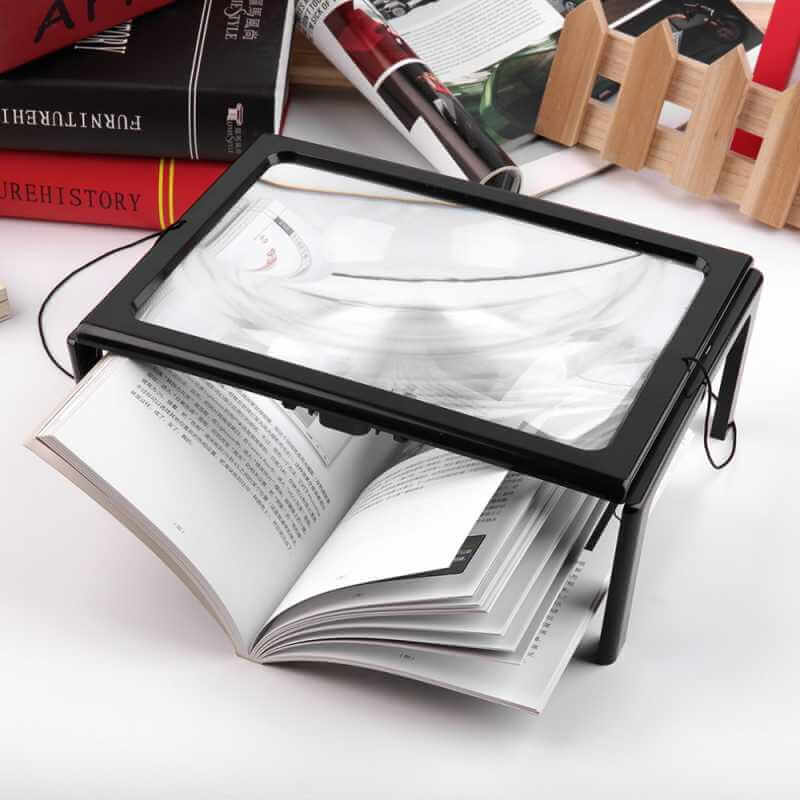 acheter loupe de lecture grand format grande taille a4 loupe pour lire journal loupe. Black Bedroom Furniture Sets. Home Design Ideas