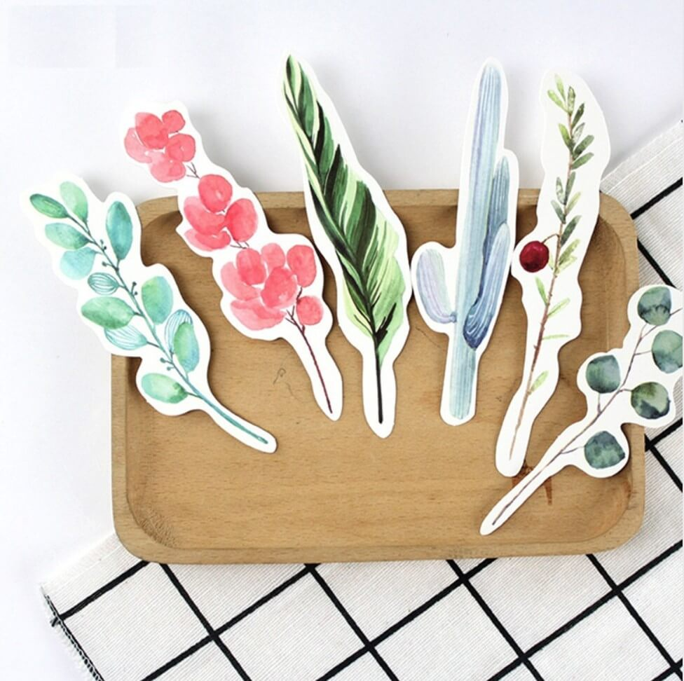 Acheter Marque Page Aquarelle Marque Page Fleurs Sechees Plantes Vertes Dessins Aquarelle Signet En Papier