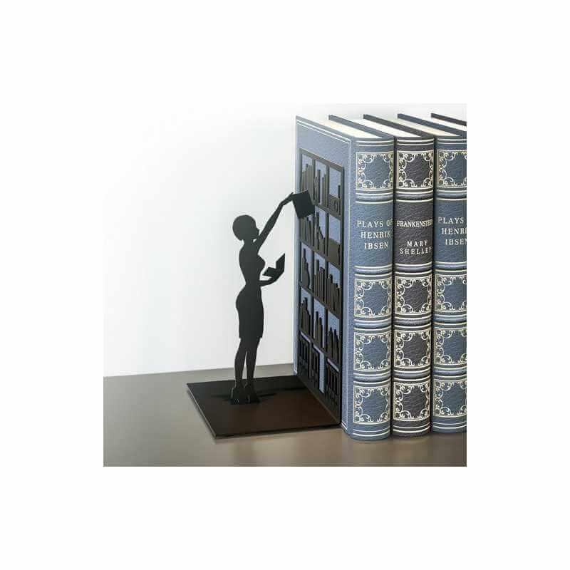 acheter serre livre presse livre silhouette femme appui livre original deco. Black Bedroom Furniture Sets. Home Design Ideas