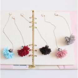 Marque-Page Chainette & Fleur