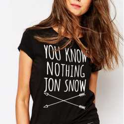 Tee Shirt Femme « You Know Nothing Jon Snow »
